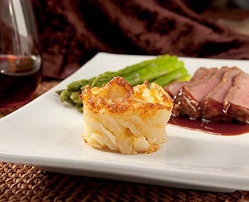 Potato Au Gratin - Gourmet Frozen Appetizers - Gluten-Free (Set of 8 Trays) by Appetizersusa