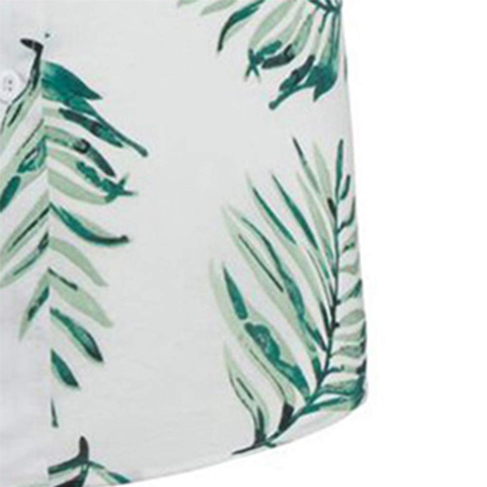 QHF Mens 3D Color Print Trend Color Short-Sleeved Shirt Blouse Men Shirt