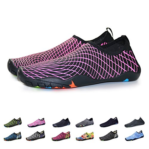 KEALUX Men Women Barefoot Quick-Dry Water Sports Shoes Multifunctional Sneakers with Drainage Holes for Swim,Walking,Yoga,Lake,Beach,Garden,Park,Driving,Boating