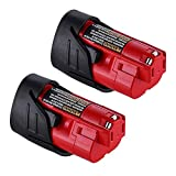 2Pack 12V 3000mAh Lithium-ion Replacement for