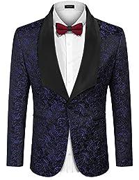 49fe64b63aa Men's Floral Party Dress Suit Stylish Dinner Jacket Wedding Blazer Prom  Tuxedo