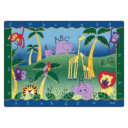 Carpets for Kids 9312 Literacy Alphabet Jungle Kids Rug Rug Size: 8'4 x (Jungle Carpet)