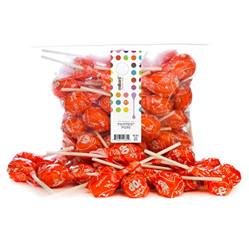 Tootsie Pops Orange - 2 Lb. Resealable Bag (approx. 50 pops) ()