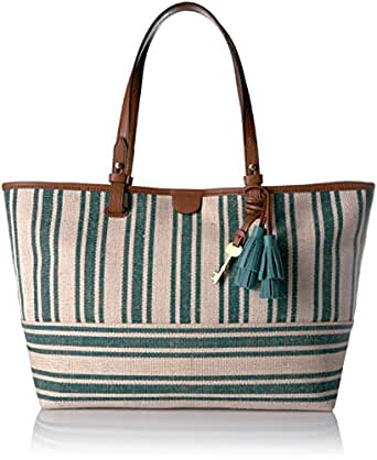 Fossil Rachel Tote, Teal Green/Green