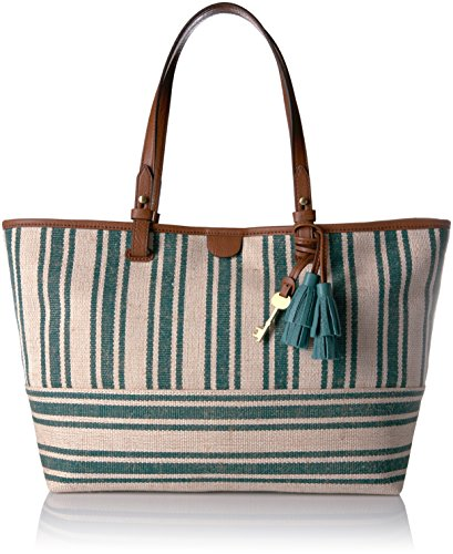 Fossil Rachel E/W Tote Bag, Teal Green/Green by Fossil