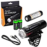 EdisonBright Fenix BC21R 880 lumen Dual Distance Beam Cree XM-L2 T6 LED USB rechargeable Bike Bicycle Light, rechargeable 18650 battery with 2 X CR123 Batteries bundle Review