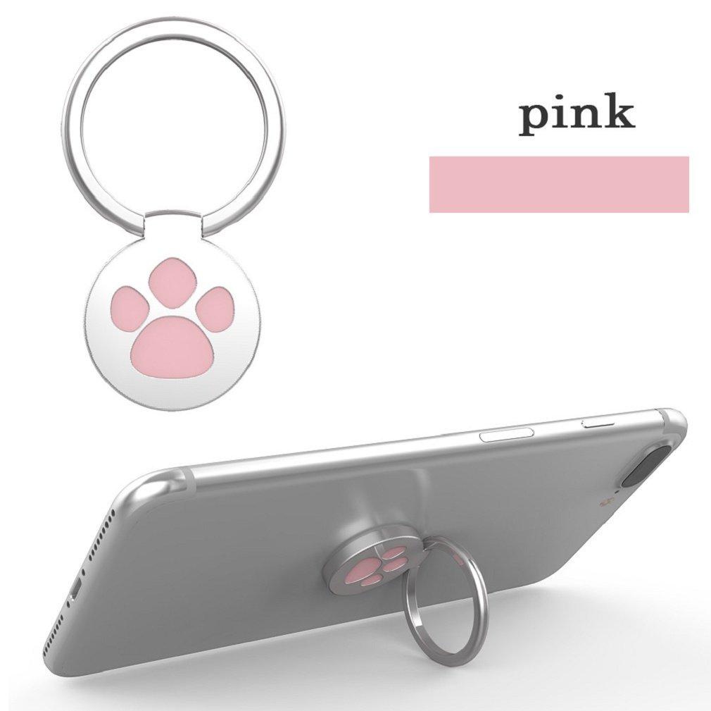 Ganenn Finger Ring Stand Holder, SUKEQ Amazing 360 Degree RotationFunny Cat Paw Finger Ring Stand Mobile Phone Holder for Smartphone (Pink) by Ganenn (Image #4)