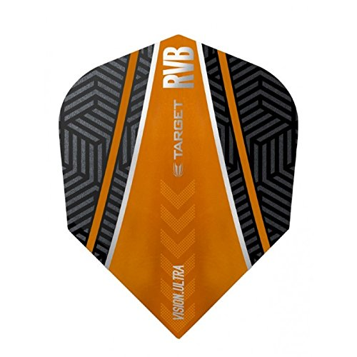 5 x Sets Target Dart Flights Small Standard no6 Vision Ultra Barney RVB Black Orange Curve