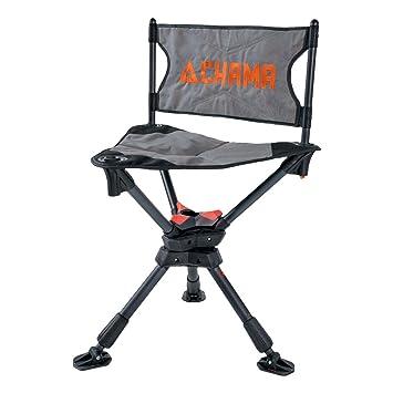 Amazon.com: Chama silla todo terreno giratoria de 360 ° caza ...