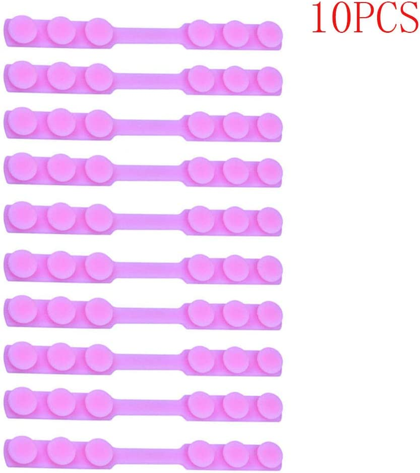 JIekyoi Mascarilla Antideslizante Auriculares Gancho de extensión Tres Ajustables Mascarilla de Silicona Anti-Correa - 10PC