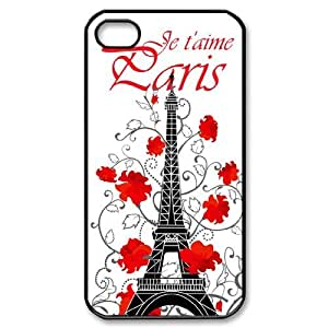 Eiffel Tower iPhone 4,4S Phone Case, Eiffel Tower Personalized Hard Back Cover, iPhone 4,4S Customized Case