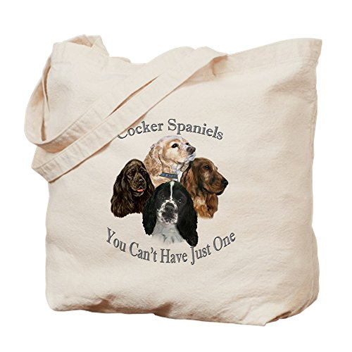 CafePress Cocker Spaniel Can't Have Jus Natural Canvas Tote Bag, Cloth Shopping -