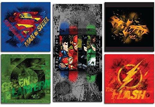 Modern Littles Justice League 5 Piece Wa - Basket Decor Art Shopping Results