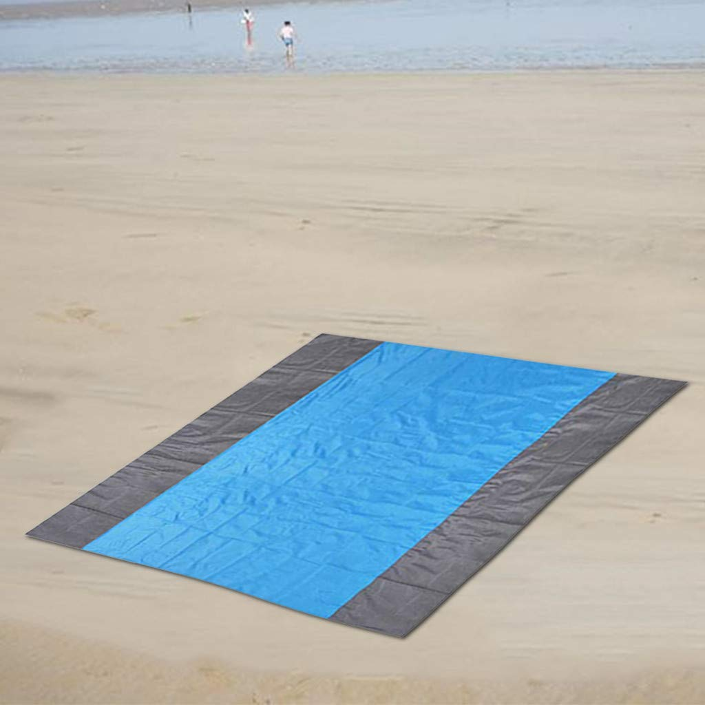 Camping Best Sand Proof Picnic Mat for Travel Huge Ground Cover Durable with Corner Pockets and Metal Stakes cnnIUHA Sandfree Beach Blanket A Hiking and Music Festivals