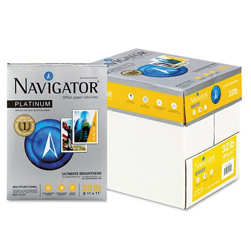 Npl1132 Platinum Office Paper - Navigator : Platinum Office Paper, 99 Brightness, 32lb, Letter, White, 2,000 Sheets -:- Sold as 1 CT