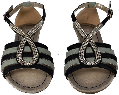 Look dazzling in these gorgeous sandals with crystal detail. By Kesly Multicoloured 7TvpBOm