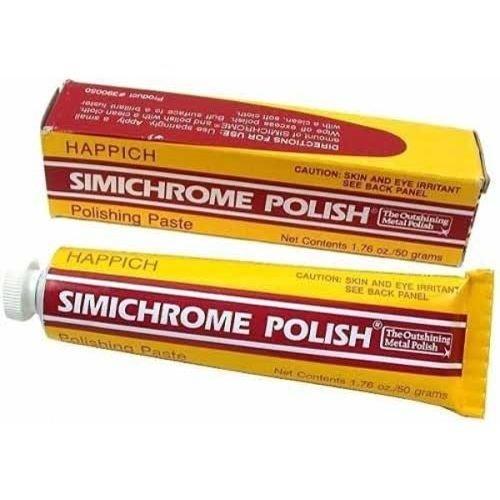 Simichrome Polish 1.76 oz Happich Metal Polishing Paste 390050 Bakelite Test