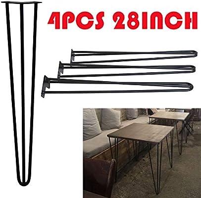 Patas para mesa de comedor de metal negro con agujeros ...