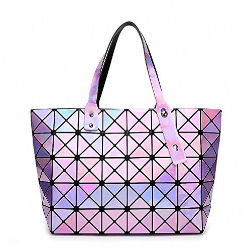 Women Handbag BaoBao Holographic Mirror Geometric Shoulder Bag Famous Brand Designer Handbags Tote Luxury Quilting Bao Bao Bags Purple