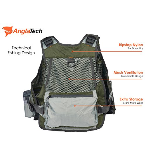 Premium quality fly fishing vest for men women by for Women s fly fishing gear