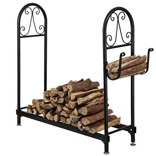 MyGift Fireside Freestanding Holder Kindling