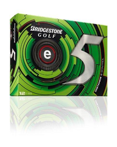 Bridgestone E5 Golf Balls - Bridgestone Golf 2013 e5 Golf Balls (Pack of 12), White