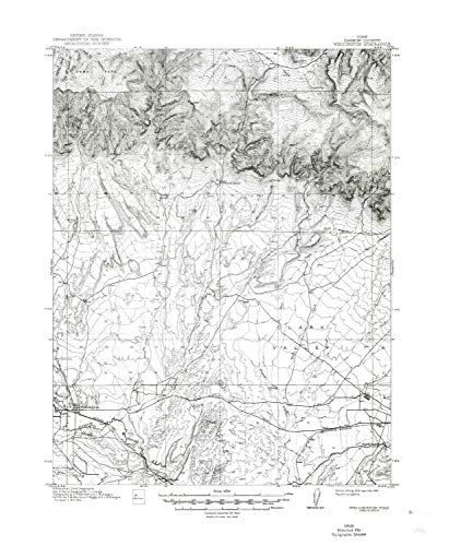 - Wellington UT topo map, 1:62500 Scale, 15 X 15 Minute, Historical, 1915, Updated 1948, 21.9 x 18 in - Paper
