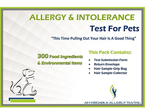 Pet Food Sensitivity and Intolerance Test by Affordable Allergy Test -- At Home Test for Dogs, Cats and More(1, Pet)