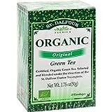 St Dalfour Organic Green Tea Original – 25 Tea Bags – Case of 6