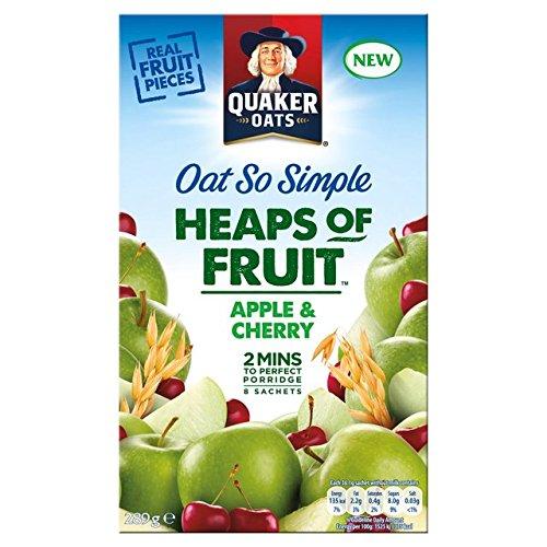 Quaker Avena Montones tan simple de la manzana y de la cereza 8 x 36,1 g: Amazon.es: Hogar