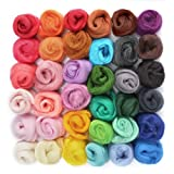 36 Colors Fibre Wool Yarn Roving For Needle Felting Hand Spinning DIY
