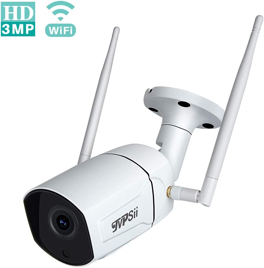 TVPsii Outdoor Security Camera Wireless 3MP Wifi IP Camera Surveillance Camera System Home Security Camera with Onvif