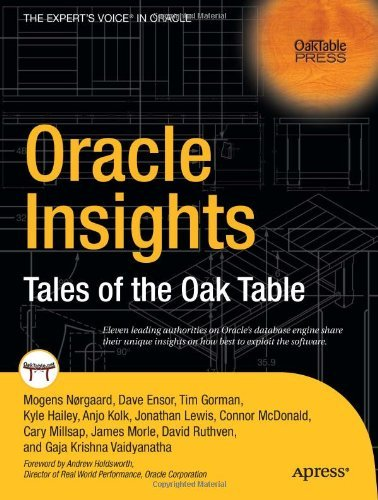 Oracle Insights: Tales of the Oak Table (Oaktable Press) Pdf