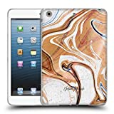 Official Nature Magick Wood Luxe Gold Marble Metallic Soft Gel Case Compatible for iPad Mini 1 Mini 2 Mini 3