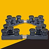 Automatic Washing Machine Base Stainless Steel Heightening Bracket Refrigerator Bracket -Casters (Size : C)