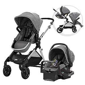 Pivot Xpand, Single-to-Double Convertible Baby Stroller with Compact Folding Design, Percheron Gray