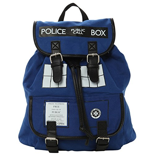 Doctor Who Dr. Blue Tardis Backpack (Dr. w-01) ()