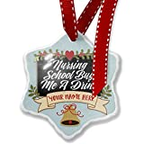 Add Your Own Custom Name, Classic design Nursing School Buy Me A Drink Christmas Ornament NEONBLOND