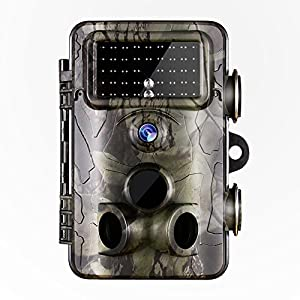 "Gosira Trail Game Camera 0.4S Trigger HD 1080P 2.4"" Viewer HD Night Vision Latest 940nm No Flash Infrared LED Hunting 12MP IP66 Waterproof Wildlife Animal Deer Trap Cam Outdoor Motion Activated"
