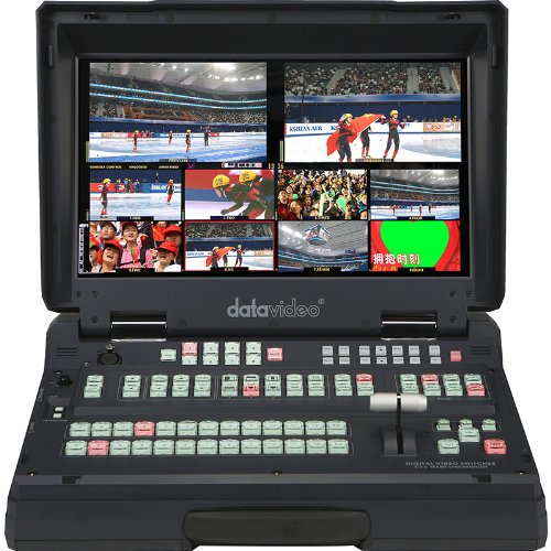 DATAVIDEO New HS-2800-8, Hand Carried HD/SD Mobile Studio, 8 Channel 10-Bit 1920 X 1080I Broadcast-Quality Mobile Switcher, Integrated 17.3 And LCD Monitor 25 Lbs. -B00J3DQCKC by DATAVIDEO