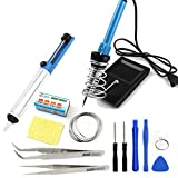 Electric 12 + 2 DIY Circuit Tools Kit Complete Set Beginner Equipment Learning Soldering Engineer Mini Hand Craft Electronic Toy Tools Suit for electronics Board hobbies kits and repair work SL-D8