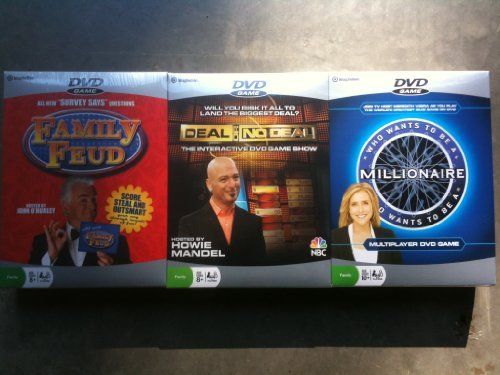 DVD Game 3 Pack - Family Feud - Deal or No Deal - Who Wants to Be a Millionaire ()
