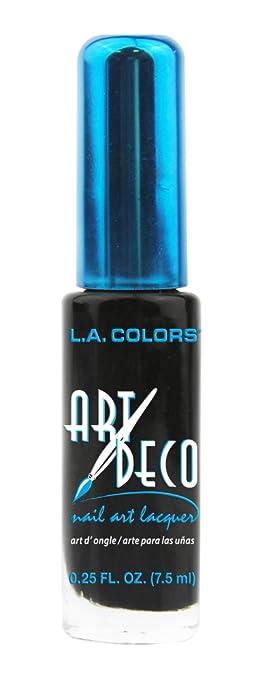 Amazon la colors art deco nail art 902 black nail polish la colors art deco nail art 902 black prinsesfo Gallery