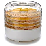 Cooks Club USA FD550WH 125W Food Dehydrator, Mini, White