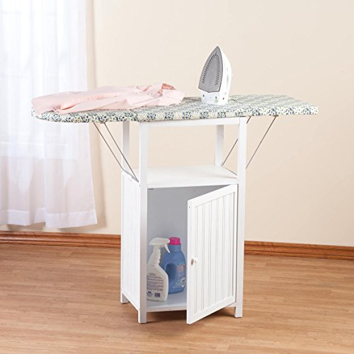 Miles Kimball Deluxe Ironing Board with Storage Cabinet by Oakridge, White by Miles Kimball (Image #4)