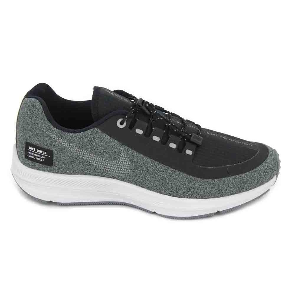 MultiCouleure (noir Metallic argent Cool gris 001) Nike W Zm Winflo 5 Run Shield, Chaussures de Running Compétition Femme 39 EU