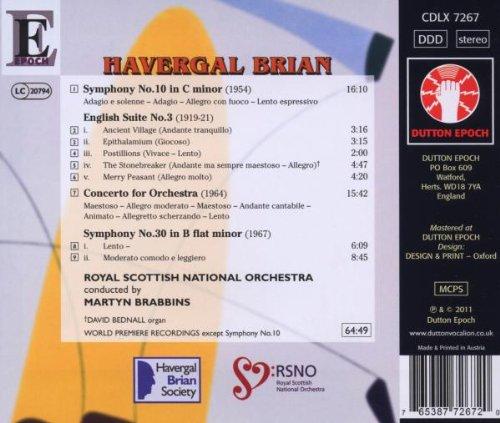 Brian: Symphonies Nos.10 & 30 by Dutton Laboratories