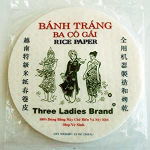 Three Ladies Spring Roll Rice Paper Wrappers (Round 16cm