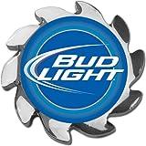 Trademark Poker Bud Light Spinner Card Cover, Silver