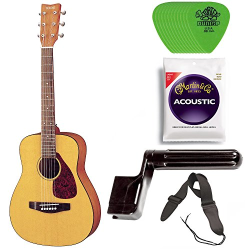 Yamaha JR1 3/4 Size Steel String Acoustic Guitar Bundle for sale  Delivered anywhere in USA